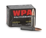 Wolf Polyformance 7.62x39mm Ammo 123 Grain JHP Steel Case