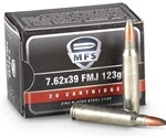 MFS 7.62x39mm Ammo 123 Grain Full Metal Jacket