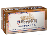 Fiocchi Cowboy Action 38 Special Ammo 158 Grain Lead Flat Point