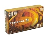 Federal Fusion 308 Winchester Ammo 150 Grain Spitzer Boat Tail
