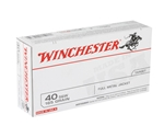 Winchester USA 40 S&W Ammo 165 Grain Full Metal Jacket Value Pack
