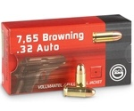 Geco 32 ACP AUTO Ammo 73 Grain Full Metal Jacket