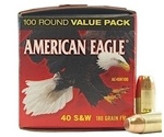 Federal American Eagle 40 S&W Ammo 180 Grain Full Metal Jacket VP