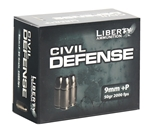 Liberty Civil Defense Ammo 9mm Luger +P 50 Grain Fragmenting HP LF