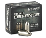 Liberty Civil Defense Ammo 45 ACP +P 78 Grain Fragmenting Hollow Point Ammunition