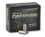 Liberty Civil Defense 380 ACP Auto Ammo 50 Grain Fragmenting HP LF