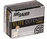 Sig Sauer Elite Performance 9mm Luger Ammo 124 Grain V-Crown JHP