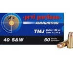 Prvi Partizan 40 S&W Ammo 180 Grain Total Metal Jacket