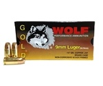 Wolf Gold 9mm Luger Ammo 147 Grain Jacketed Hollow Point