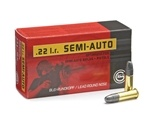 Geco 22 Long Rifle Semi-Auto Ammo 40 Grain Lead Round Nose
