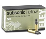 Eley Club Subsonic 22 Long Rifle Ammo 40 Grain Lead Hollow Point