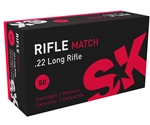 SK Rifle Match 22 Long Rifle Ammo 40 Grain Lead Round Nose