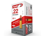 Aguila Interceptor 22 Long Rifle Ammo 40 Grain Plated Lead Round Nose