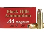 Black Hills 44 Remington Magnum Ammo 300 Grain Jacketed Hollow Point