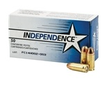 Independence 9mm Luger Ammo 115 Grain Jacketed Hollow Point