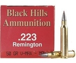 Black Hills 223 Remington Ammo 50 Grain V-Max