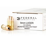 Federal Law Enforcement 9mm Luger Ammo 115 Grain JHP
