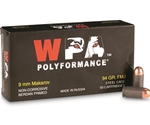 Wolf Polyformance 9mm Makarov Ammo 95 Grain Full Metal Jacket