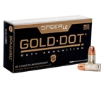 Speer Gold Dot LE Duty 9mm Luger Ammo 124 Grain +P Jacketed Hollow Point