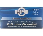 Prvi Partizan 6.5 Grendal Ammo 120 Grain Hollow Point Boat Tail