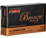 PMC Bronze 223 Remington 55 Grain Pointed Soft Point