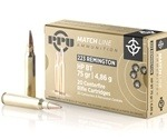 Prvi Partizan Match 223 Remington 75 Grain Hollow Point Boat Tail Ammunition