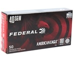 Federal American Eagle 40 S&W Ammo 180 Grain FMJ