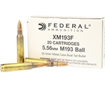 Federal Lake City 5.56x45mm M193 NATO Ammo 55 Grain FMJBT