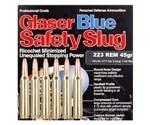Glaser Blue Safety Slug 223 Remington 45 Grain Ammunition