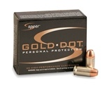 Speer Gold Dot 380 ACP AUTO Ammo 90 Grain Jacketed Hollow Point