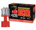 "Brenneke USA K.O. 20 Gauge 2-3/4"" 7/8 oz Slug Ammunition"