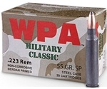 Wolf Military Classic 223 Remington 55 Grain Jacketed Soft Point Ammunition