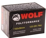 Wolf Polyformance 7.62x39mm Ammo 123 Gr FMJ Steel Case