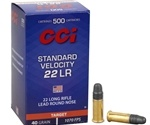 CCI Standard Velocity Ammo 22 Long Rifle 40 Grain Solid Lead Round Nose Ammunition