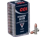 CCI Stinger Rimfire Ammunition 22 Long Rifle 32 Grain Plated Lead Hollow Point Box of 50 Rounds