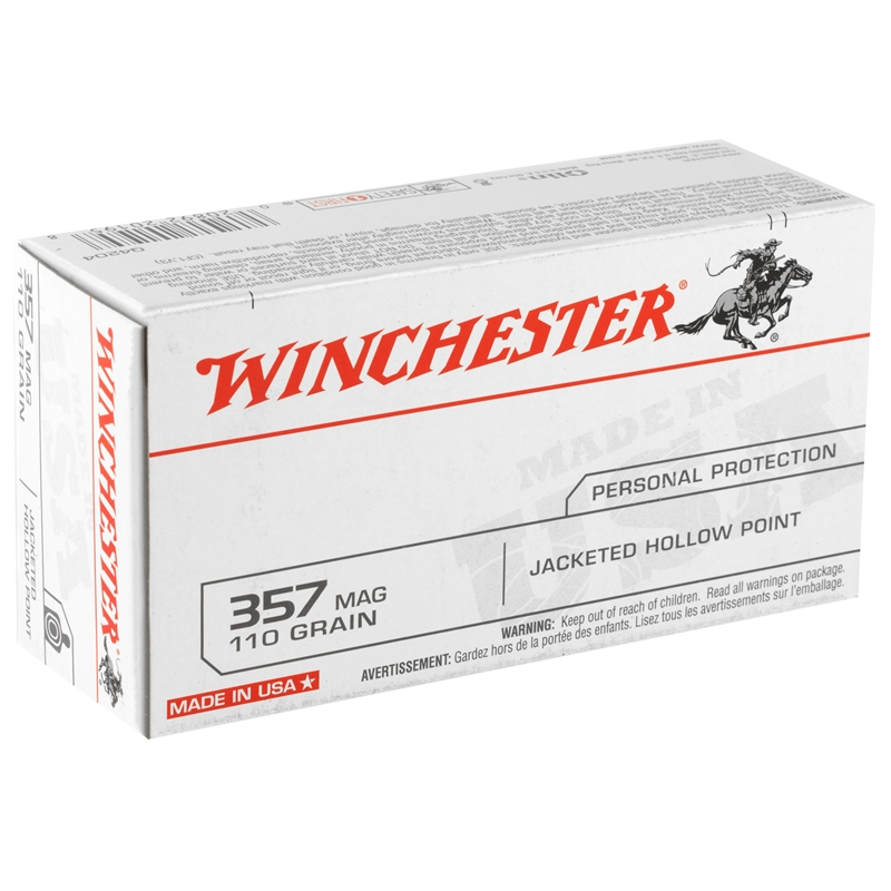Winchester USA 357 Magnum 110 Grain Jacketed Hollow Point