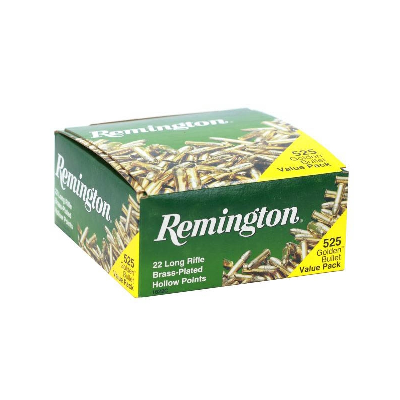 Remington Golden Bullet 22 LR Ammo 36 Grain Plated Lead Hollow Point