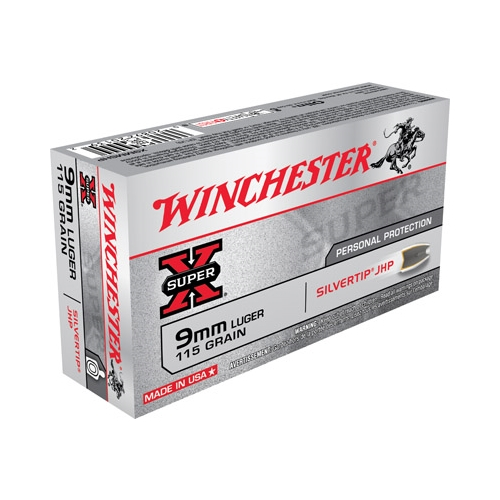 Winchester Super-X 9mm Luger Ammo 115 Grain Silvertip Hollow Point