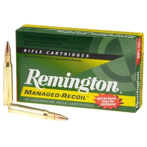 308 Winchester Ammo-Remington Managed Recoil Rifle Ammunition 308 Winchester 125 Grain Core-Lokt Pointed SP Ammo