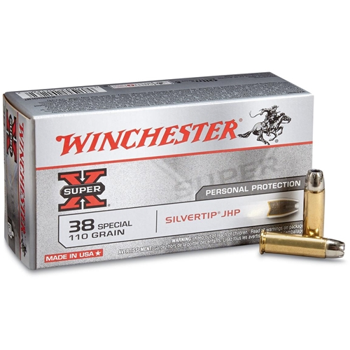 Winchester Super-X 38 Special Ammo 110 Grain Hollow Point
