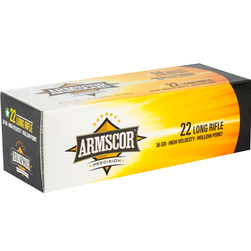 Armscor Precision Ammo 22 Long Rifle 36 Grain High Velocity Lead Hollow Point Ammunition