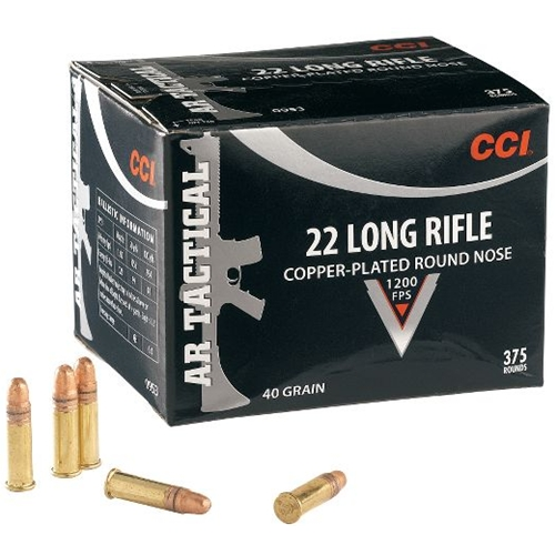 CCI AR Tactical Ammo 22 LR 40 Grain Copper Plated Round Nose
