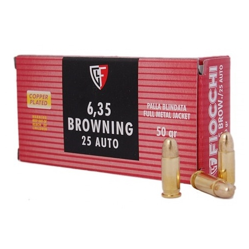 Fiocchi Shooting Dynamics 25 ACP AUTO Ammo 50 Grain Full Metal Jacket