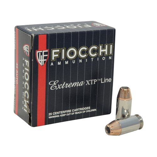 Fiocchi Extrema Ammo 45 ACP AUTO 230 Grain Hornady XTP Jacketed Hollow Point Ammunition