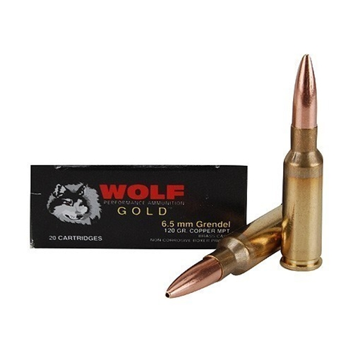 Wolf Gold 6.5 Grendel 123 Grain Soft Point