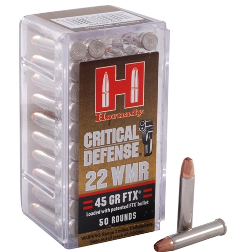 Hornady Critical Defense 22 WMR Ammo 45 Grain Flex Tip