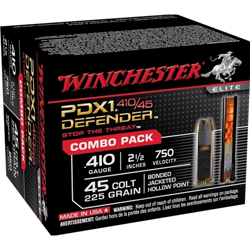 "Winchester PDX1 45 Long Colt/410 Gauge 2-1/2"" Combo Pack"