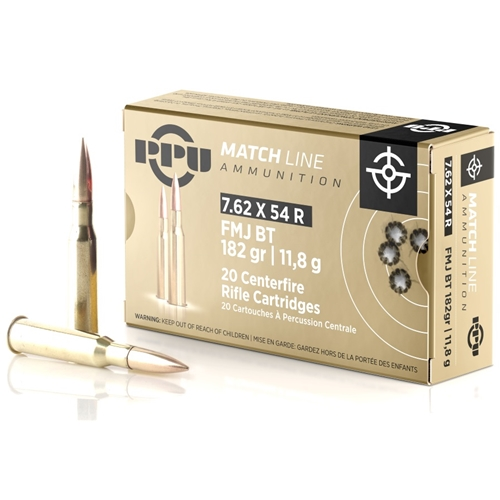 Prvi Partizan Match 7.62x54R 182 Grain Full Metal Jacket