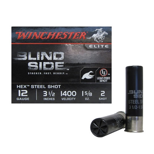 "Winchester Blind Side 12 Gauge 3 1/2"" 1 5/8oz. #2 Shot NTSS"