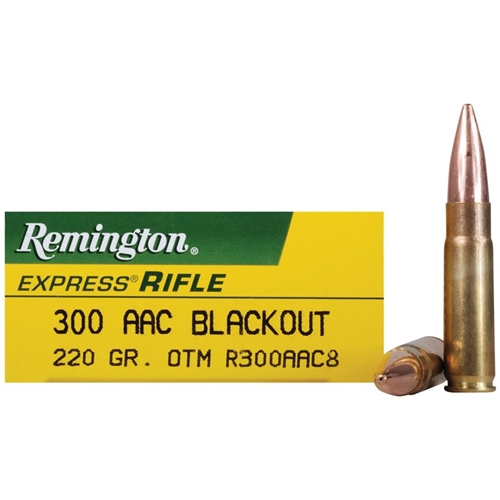 Remington Express 300 AAC Blackout 220 Gr Subsonic Open-Tip Match